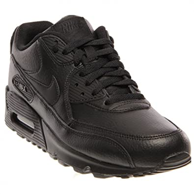 sneaker air max 90 leather gs in schwarz
