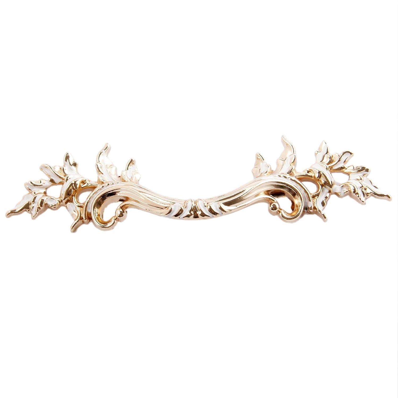 5Pcs K Gold European Style Vintage Handles Pulls for Cabinet Door Dresser Cupboard Closet Drawer Furniture