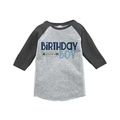 Custom Party Shop Boys First Birthday Vintage Baseball Tee 2T Grey And Blue