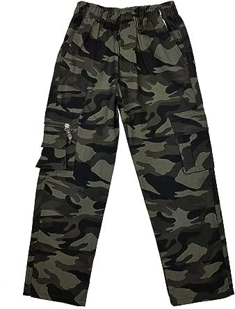 Fashion Boy J8159e - Pantalones de camuflaje para niño