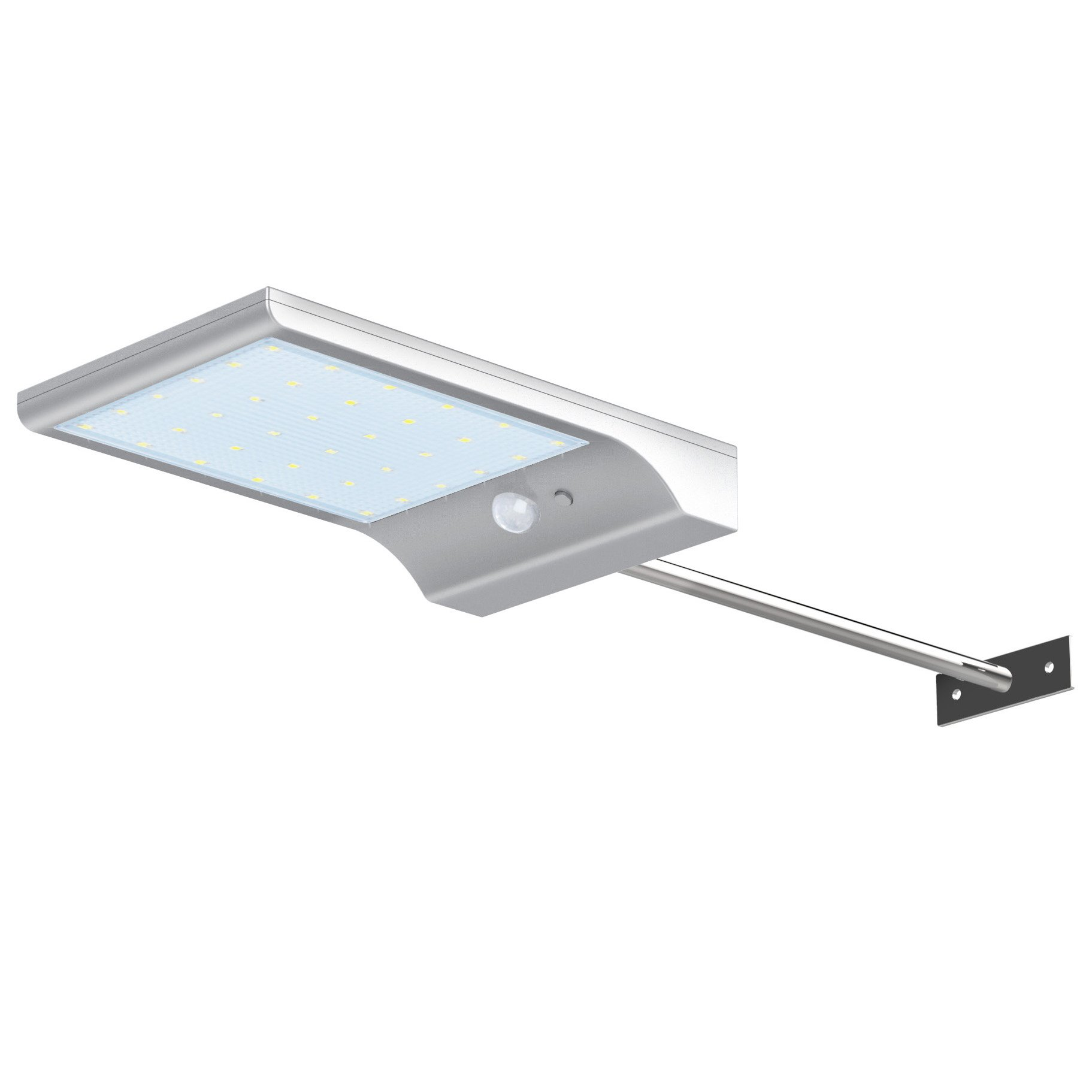 InnoGear Solar Gutter Lights Wall Sconces with Mounting Pole Outdoor Motion Sensor Detector Light Security Lighting for Barn Porch Garage, Pack of 1