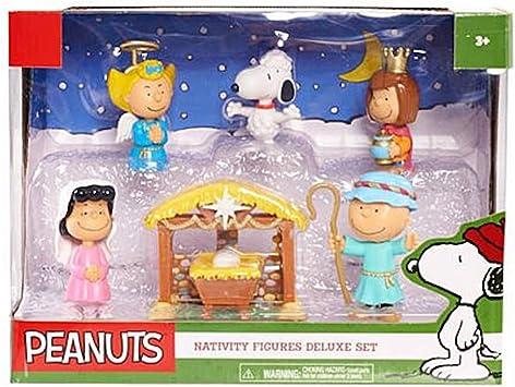 Peanuts Figures Christmas 2020 Set Amazon.com: Peanuts Christmas Nativity Deluxe Figure Set: Toys & Games