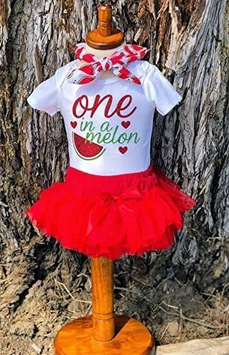 Summer Baby Girl Clothes 531 One in a Melon Shirt One In A Melon Birthday 1st Birthday Watermelon Onesie\u00ae First Birthday Girl Outfit