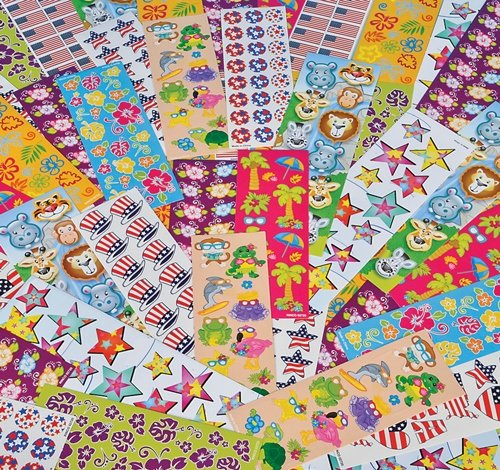 500 PCS STICKER ASSORTMENT, Case of 8