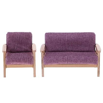 Pleasant Amazon Com Prettyia 1 12 Dollhouse Sofa Set Mini Sofa Model Dailytribune Chair Design For Home Dailytribuneorg
