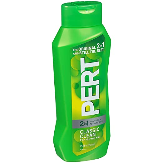Pert Plus 2in1 Shampoo + Conditioner, Medium, for Normal Hair, 25.4 Ounce Bottles (Pack of 4)