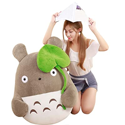 MTHDD Totoro Plush Toys Soft Stuffed Animal Cartoon Pillow Cushion Cute Wedding Doll Children Birthday Girl Kids Toys Tororo Doll,110CM: Kitchen & Dining