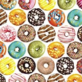 Delicious Donuts Gift Wrap Flat Sheet - 24in x 6ft