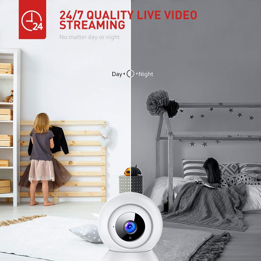 Amazon.com: Victure 1080P FHD Monitor de bebé con 2.4 G WiFi ...