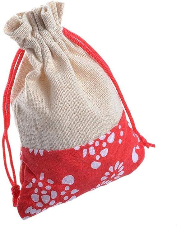 LiangG 50 Bolsas de arpillera con Bolsa de Regalo con cordón para ...