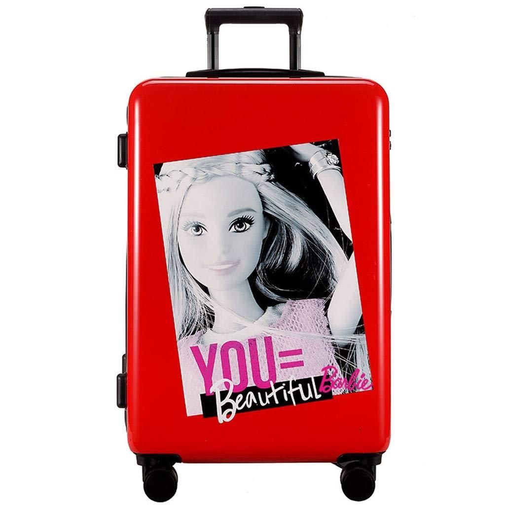FRF トロリーケース- 学生の方法人格のトロリー箱24インチ、20インチに乗る普遍的な車輪のスーツケースのパスワードボックス (色 : Red B, サイズ さいず : 20in) 20in Red B B07R1QPPT5