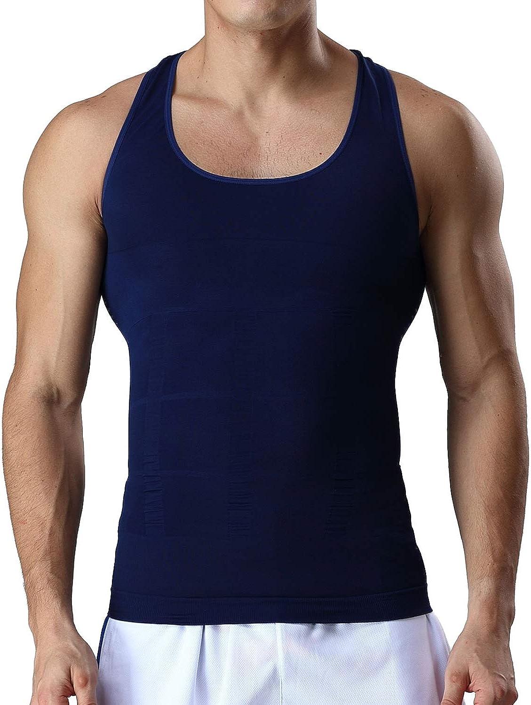 Lavento Mens Body Shaper Vest Abs Abdomen Undershirts Compression Tank Top