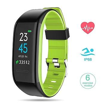 GOKOO Pulsera Actividad con Podómetros Smartwatch Inteligente con Pulsómetro Reloj Inteligente Fitness Tracker Impermeable IP68 Pulsera para Deporte Reloj ...