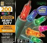 Professional Series 200 Multi Color Indoor/Outdoor Heavy Duty Light Set