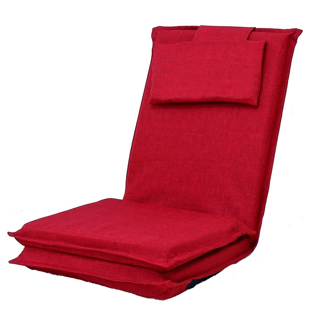 Bodenstuhl Justierbares Spiel-Sofa mit 5 Positionen Für Teenager und Kinder, Liege-Bett mit Kissen