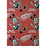"""NHL Officially Licensed Detroit Red Wings 50"""" X 60"""" Mickey Mouse Character Fleece Throw"""