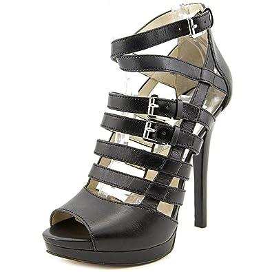 f7be0e05d2f Michael Michael Kors Women s Sandra Platform Black Vachetta D Orsay 6 M   Amazon.co.uk  Shoes   Bags