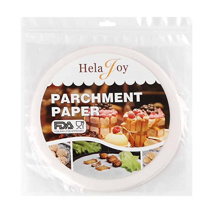 Oven Parchment Paper for Baking White Round Greaseproof Paper Sheets Cake Rounds Parchment Paper Toaster 6and 8Non Stick Silicone Parchment Paper 100pcs 2 Size Parchment Paper Rounds