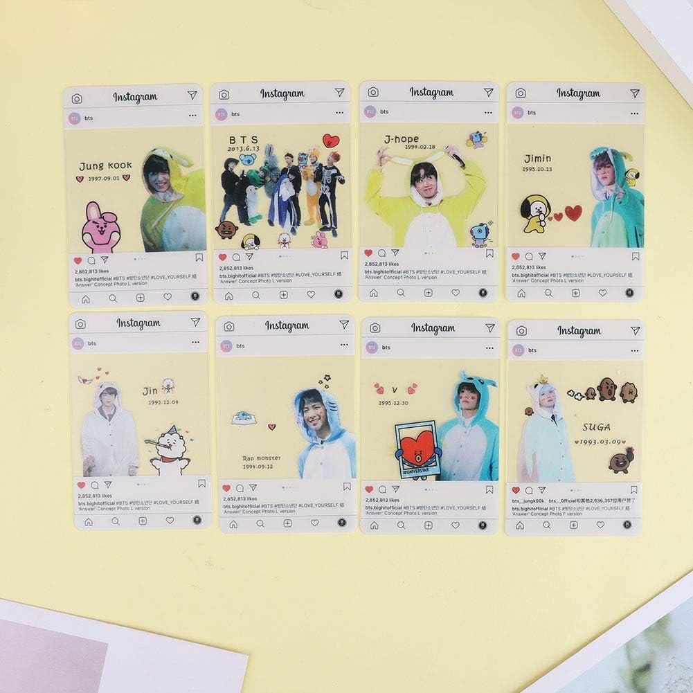 Geschenk f/ür BTS ARMY ALTcompluser Kpop BTS Instagram Card Bangtan Boys Jin Jimin Suga J-Hope Jung Kook V RM Photocard Photo Karten #3