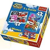 Trefl superwings Puzzle 2in 1mit Spiel-24Memo–Super Wings, 90635