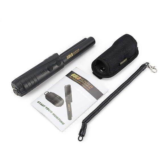 Lorenlli Gold Hunter Profesional Pinpointer Detector de Metales Buscador subterráneo Sensor Inteligente Sonido Vibrar Alarma Caza: Amazon.es: Jardín