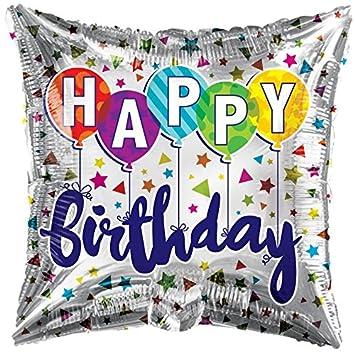 Amazon.com: Globos de cumpleaños 18 inch cuadrado forma ...