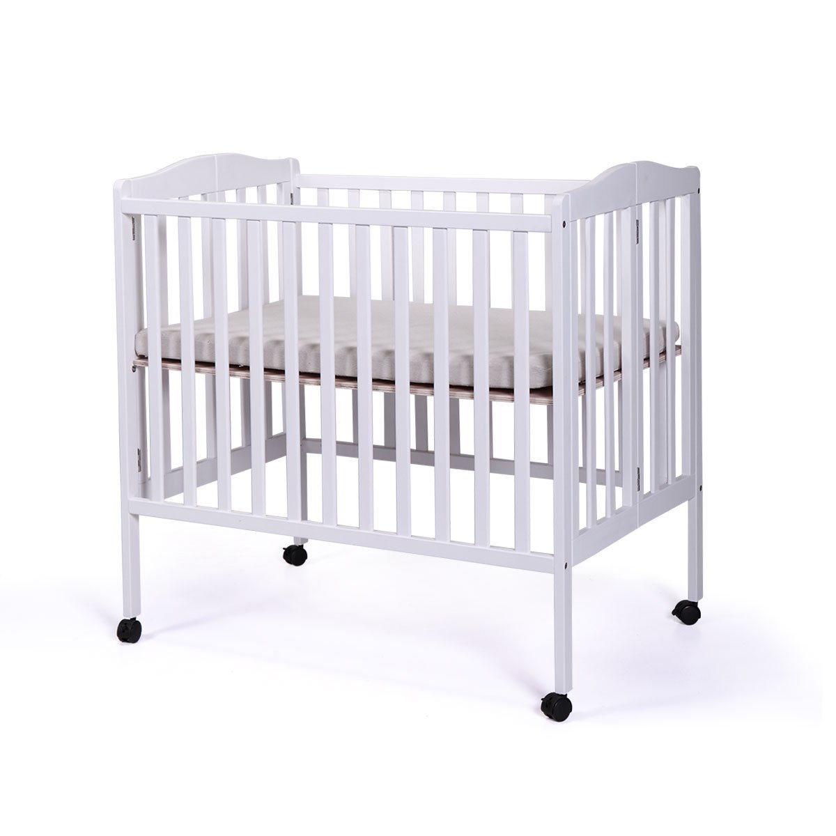 Amazon com tobbi baby side crib wooden toddler bed day bed full bed convertible w mattress nursery furniture white baby