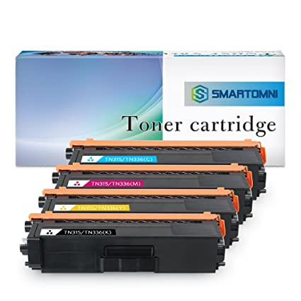 S SMARTOMNI Compatible Brother TN336 TN315 TN310 TN331 Toner Cartridges 4 Pack Replacement for MFC-L8600CDW MFC-L8850CDW HL-L8350CDW MFC-9970CDW ...