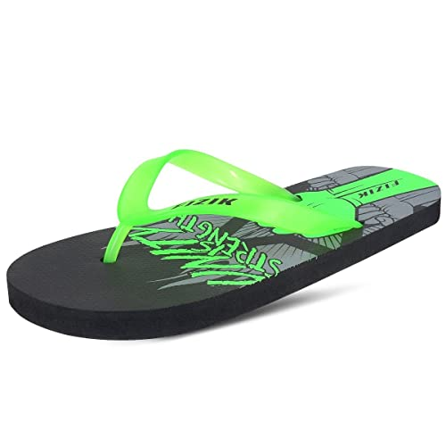 d086fac9c FIZIK MEGA-1 BLACK   NEON GREEN FLIP-FLOP (11)  Buy Online at Low ...