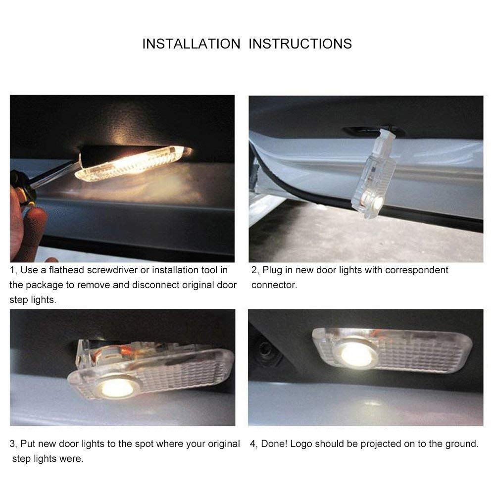 Car Door LED Logo Projector Ghost Shadow Welcome Lights Easy Installation for BMW M 2 Pack