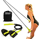 Upneargo Dryland Powercord with Paddles,Swimming Arm Strength Trainer, Professional Freestyle Swimming Resistance…