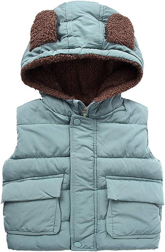 Mud Kingdom Little Boy Fur Lined Vest Jacket with Ear Hood