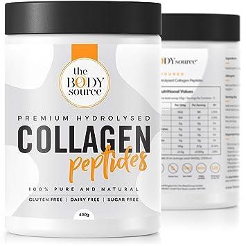 Polvo de Colágeno Hidrolizado de Primera Calidad | Péptidos de colágeno bovino sin sabor de alta calidad -400g