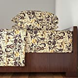 Roostery Elvis 4pc Sheet Set Hound Dog Retro by Bluevelvet Queen Sheet Set made with