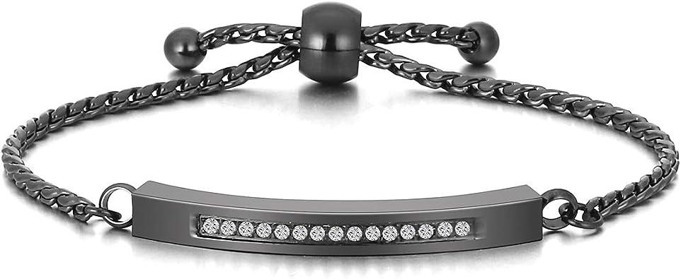 Cremation Bracelet for Ashes Crystal Heart Urn Pendant Stainless Steel Bangle Memorial Ashes Holder Keepsake Bracelet Free Fill Kit