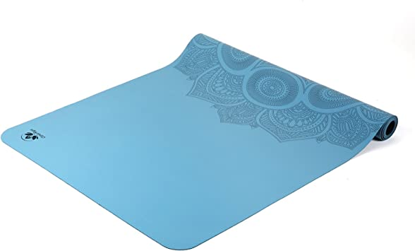 Travel Yoga Mat - Lightweight, Foldable and Non Slip Sticky - Made from The Best Natural Rubber Ultra Thin - Great for Hot Yoga Bikram, Pilates and ...