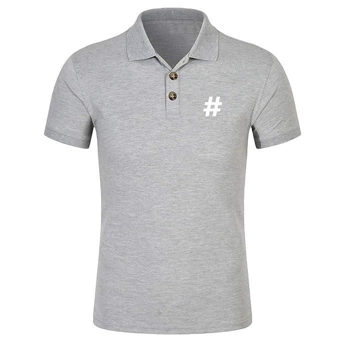 d94402f2e40a Amphia - Revers T-Shirt für HerrenMänner Frühling Sommer Slim Fit Kurzarm  Printed Muscle T