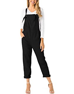 e1985d108abb YOINS Overalls for Women Bib Baggy Denim Jumpsuit Adjustable Strap Loose  Romper