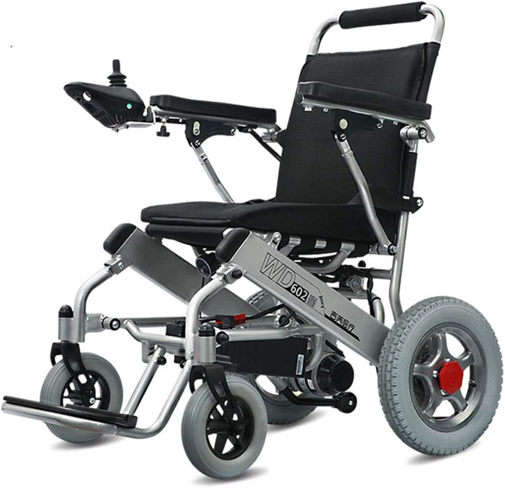 YQ WHJB Portátil Motorizado Silla De Ruedas Eléctrica,Plegable Ligero Dual Motor Intemperie Silla De Ruedas Viaje Seguro A