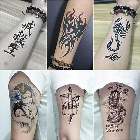 YSYYSH Pegatinas De Tatuaje Impermeable De Medio Brazo De Larga ...
