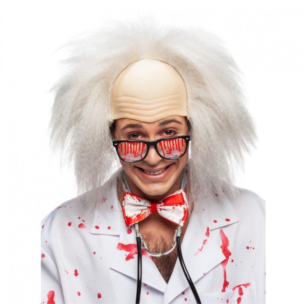 Profesor de la peluca con el abuelo carnaval calva pelo blanco Einstein: Amazon.es: Juguetes y juegos