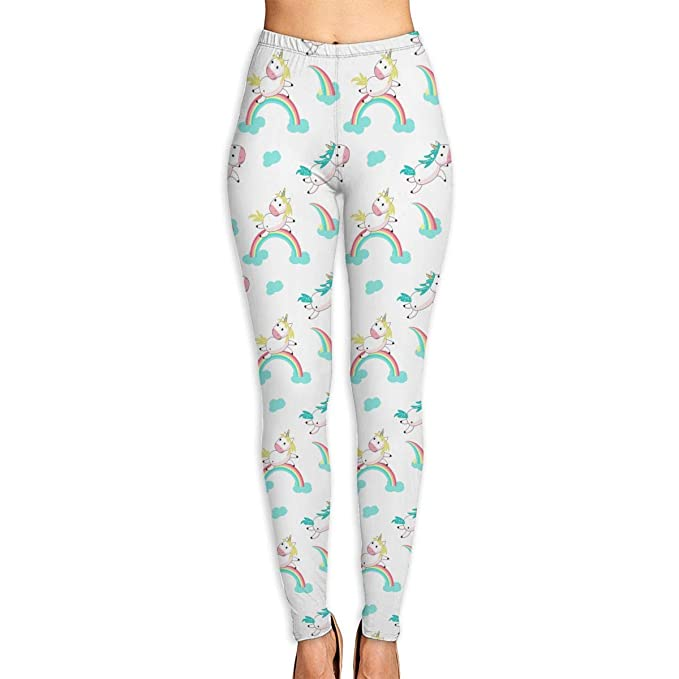 650b41da55 Image Unavailable. Image not available for. Color: Women's Magic Unicorn  with Rainbow High Waist Skinny Yoga Pants