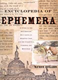 Encyclopedia of Ephemera, Maurice Rickards, 0415926483