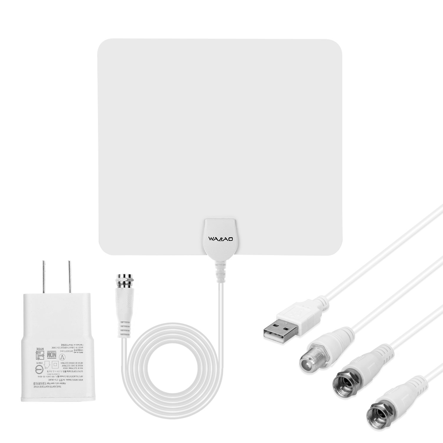 Amazon.com: WAAO HDTV Indoor Antenna- 50 Miles Digital Long Range TV HD Antenna With Amplifier Signal Booster Upgraded Version-10ft Coax Cable(clear): ...