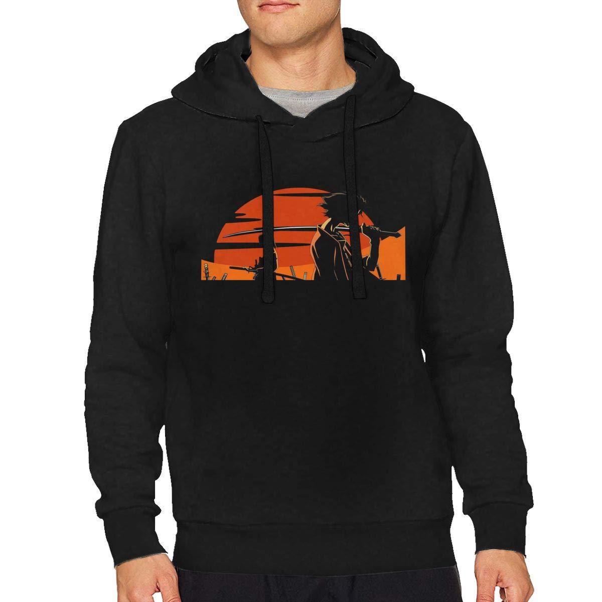 Mans Samurai Champloo Fashion Drawstring Music Sweater Black Shirts