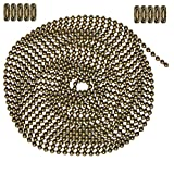 10 Foot Length Ball Chain, Number 6 Size, Antique