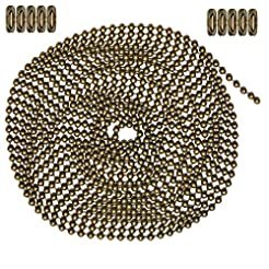 10 Foot Length Ball Chain, Number 6 Size...