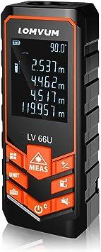 Niveles de Electronico Tel/émetros l/áser,LOMVUM 100M Medidor de Distancias Digital,Metro L/áser con precisi/ón 1mm