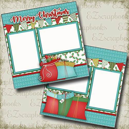 (MERRY CHRISTMAS - Premade Scrapbook Pages - EZ Layout 2395)