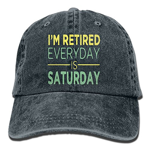 Unisex Baseball Cap Hat I'm Retired Every Day is Saturday Co